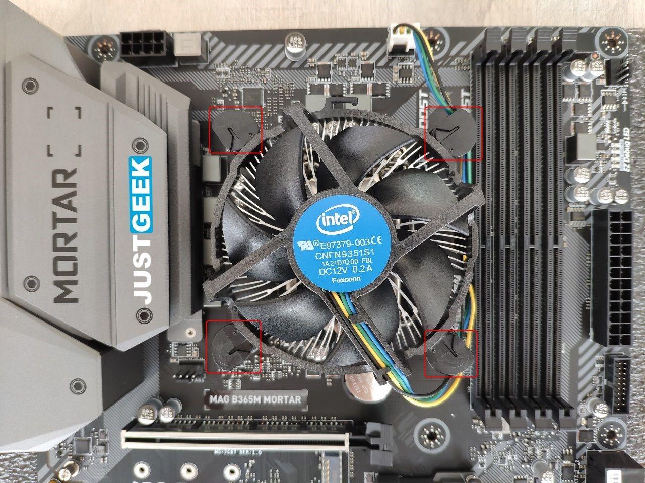 Tutoriel montage PC : Mise en place du ventirad sur le processeur