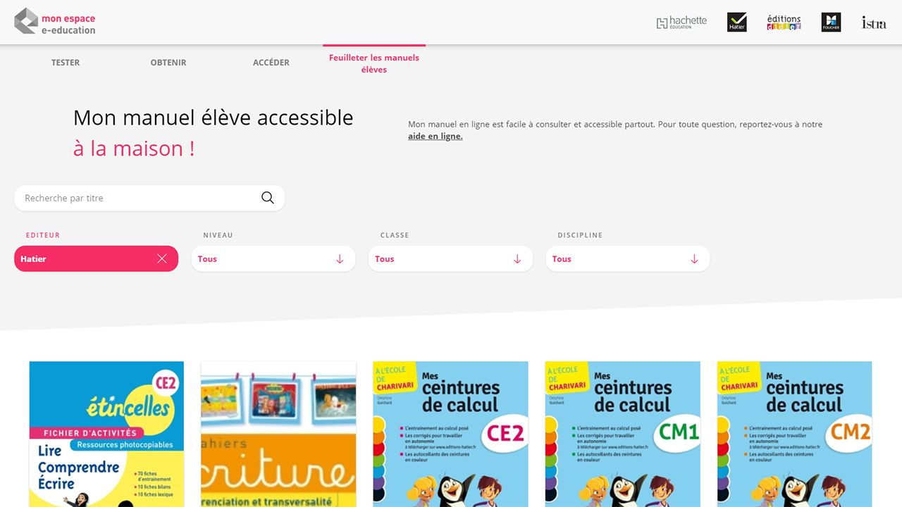 Télécharger les manuels scolaires pour les enseignants et les élèves