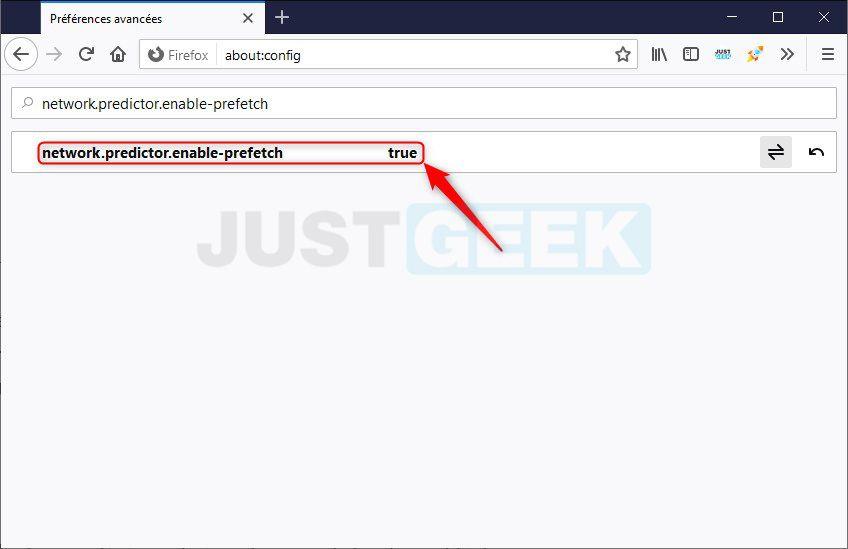 Activer network.predictor.enable-prefetch