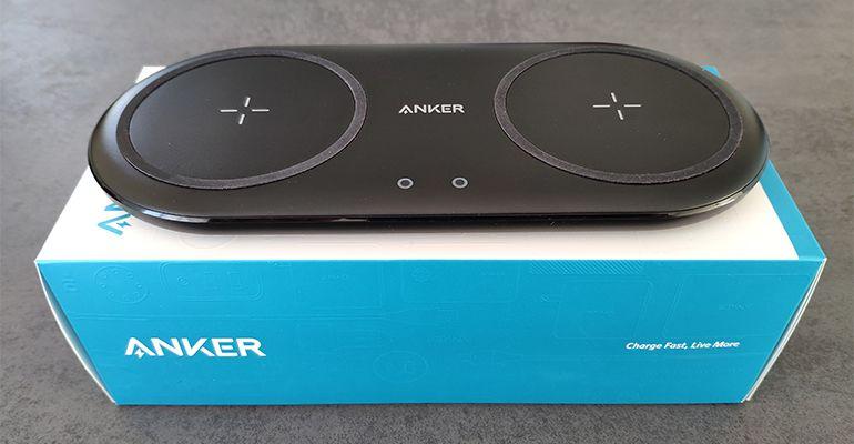 Test Anker PowerWave 10 Dual Pad : Chargeur sans fil pas cher