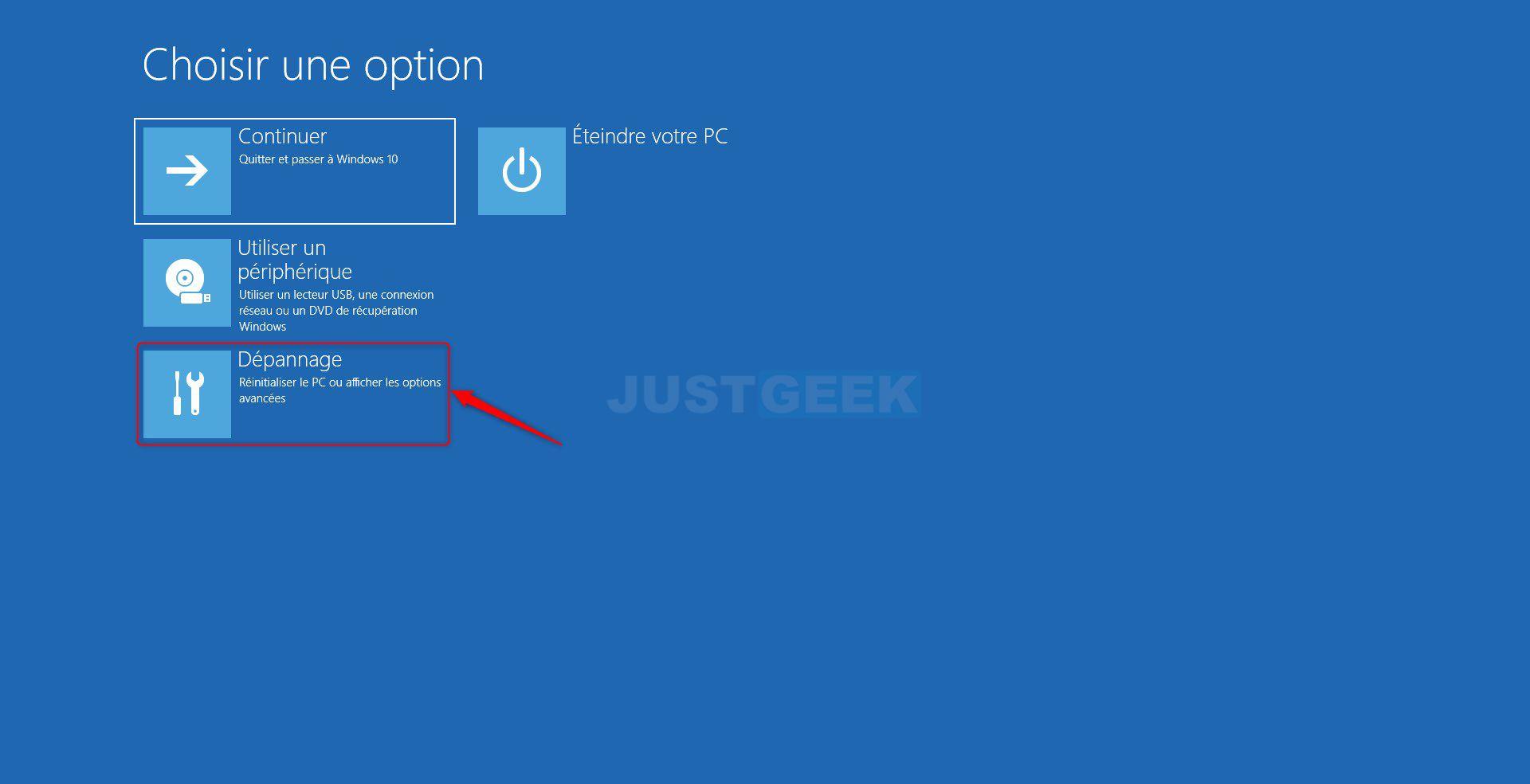 Étape 5 : Accéder à l'UEFI depuis Windows 10