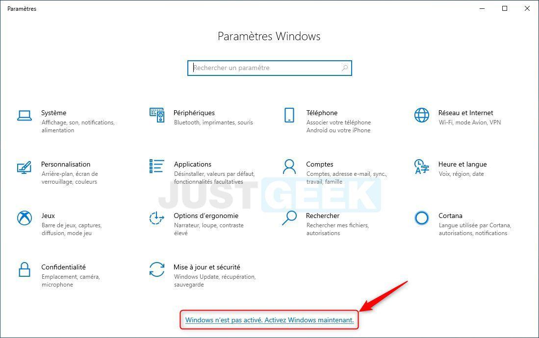Étape 2 : Activer Windows 10