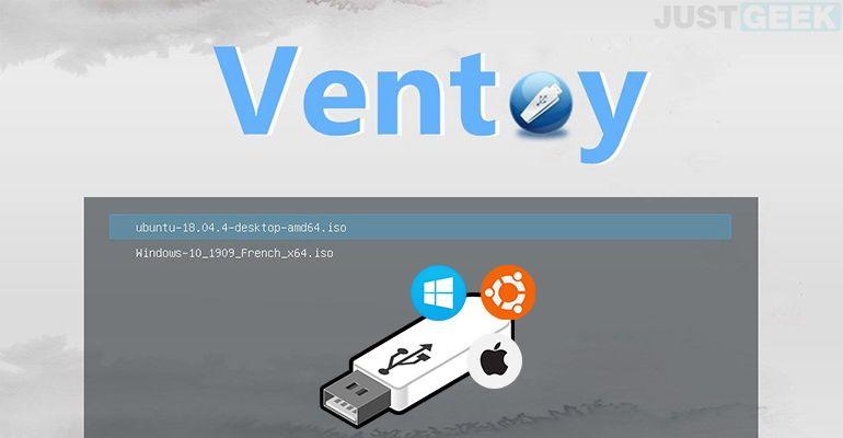 Créer une clé USB multiboot avec Ventoy