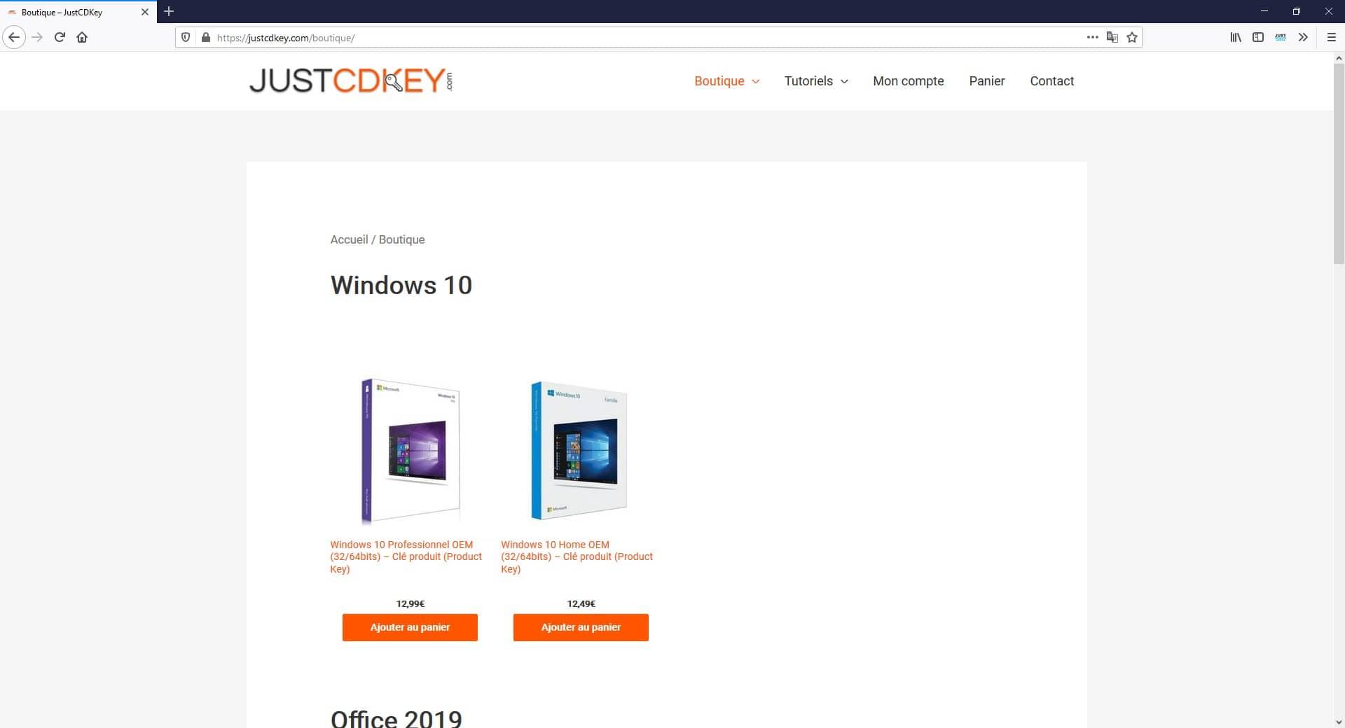 Licence Windows 10 pas chère