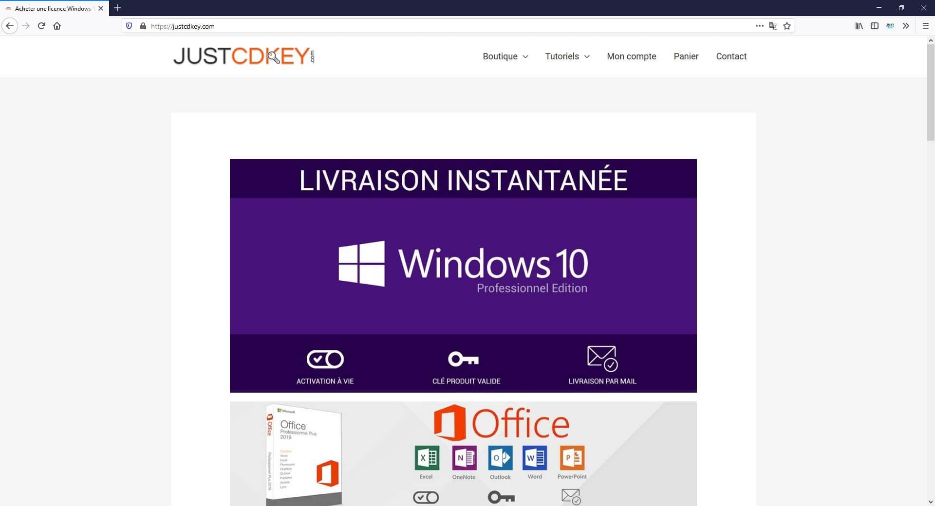 Licence Windows 10 et Office 2019 à petit prix