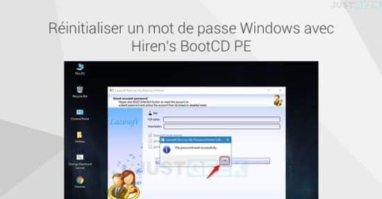 Réinitialiser le mot de passe d'un compte local Windows 10 avec Hiren's BootCD PE
