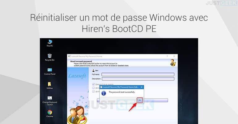 Réinitialiser un mot de passe Windows avec Hiren's BootCD PE