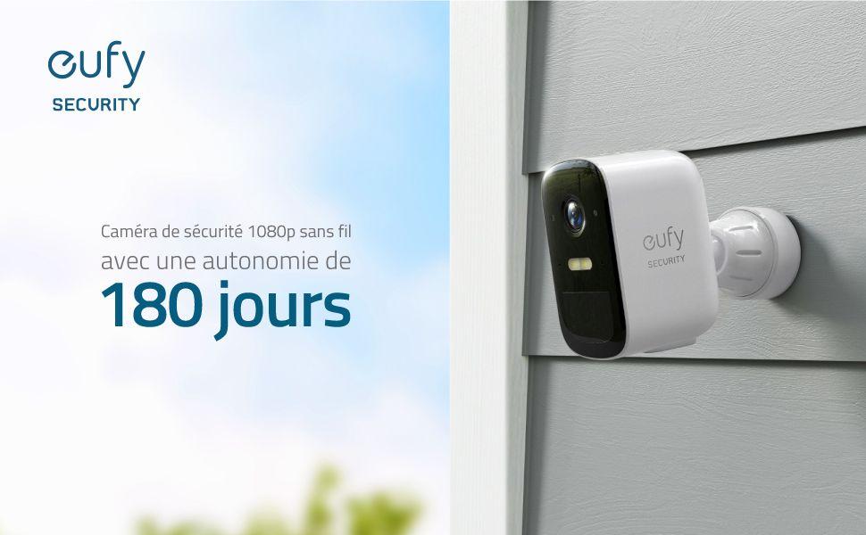 eufyCam 2C : caméra de sécurité sans fil avec une autonomie de 180 jours