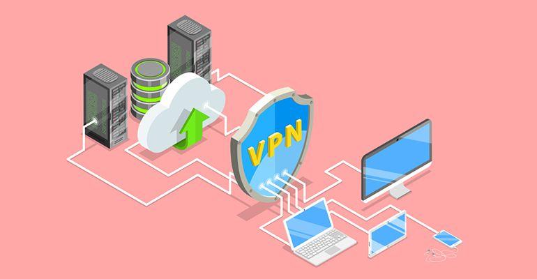 Concept vectoriel d'une protection VPN