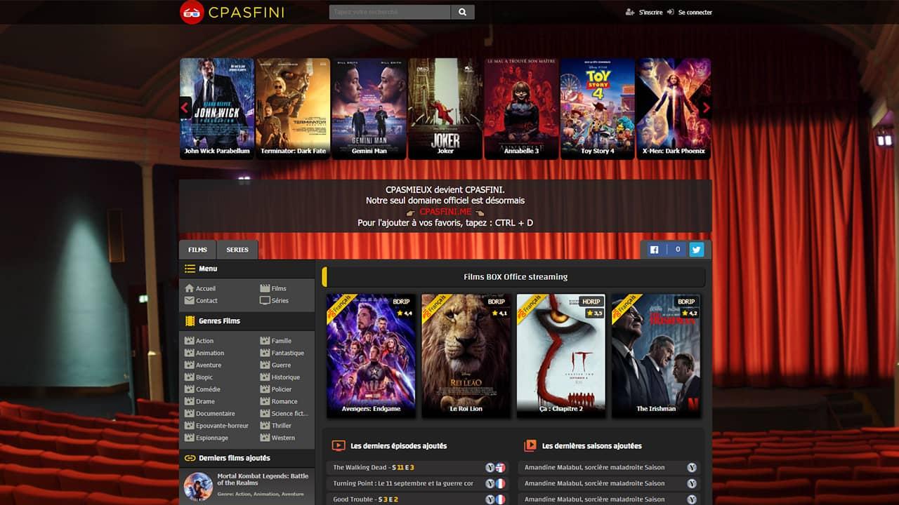 Cpasfini : regarder des films et séries en streaming hd gratuit, en VF et VOSTFR