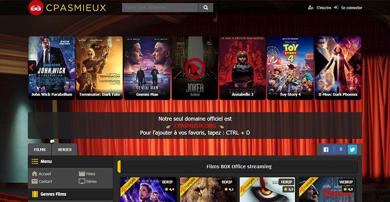 Cpasmieux.org : Regarder des films et séries en streaming hd gratuit, en VF et VOSTFR