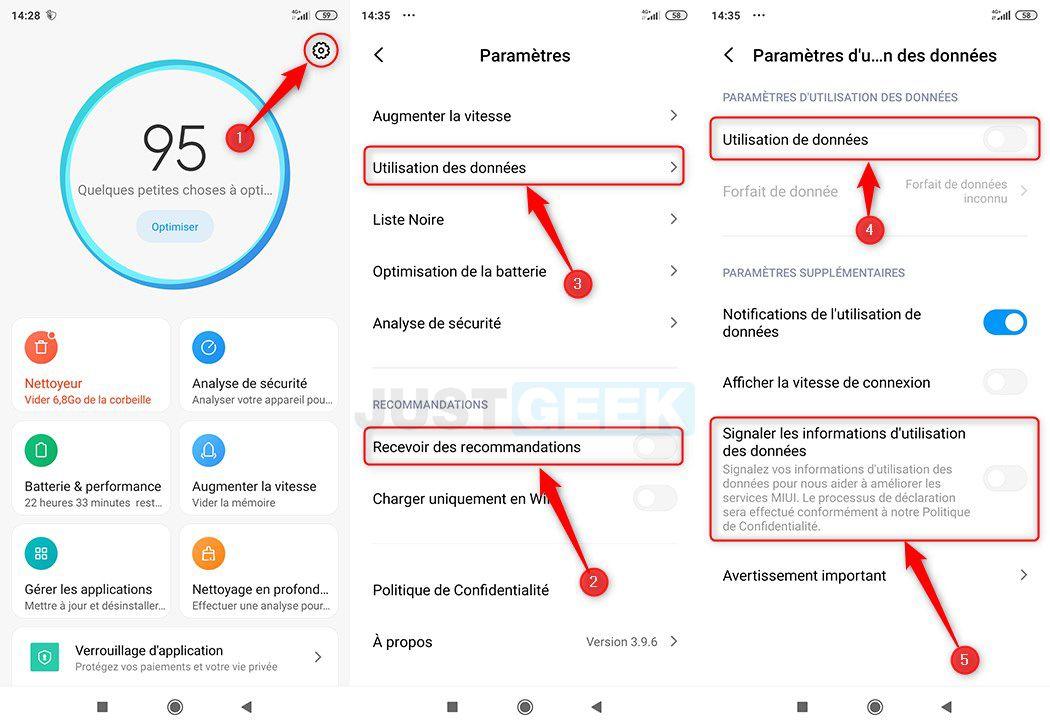 Désactiver les publicités dans l'application Sécurité de Xiaomi
