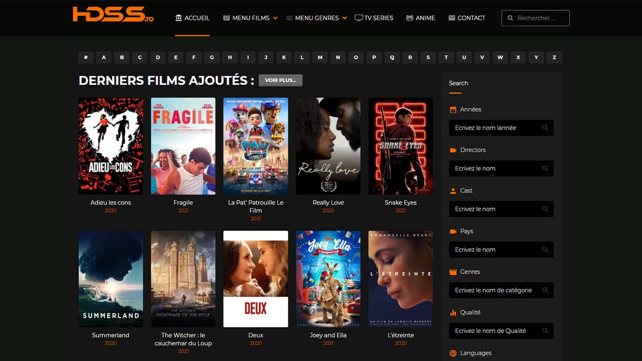 HDSS.to : Film Streaming HD gratuit complet