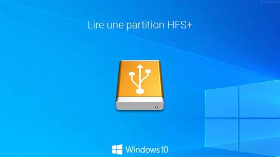 Lire un périphérique de stockage formaté sous macOS sur un PC Windows 10