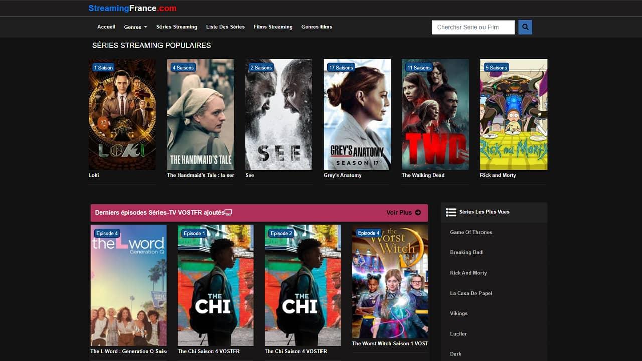 StreamingFrance : films et séries en streaming gratuit sans inscription