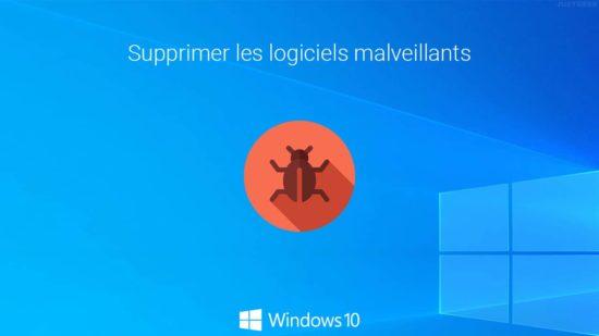 Supprimer les logiciels malveillants sans logiciel tiers dans Windows 10