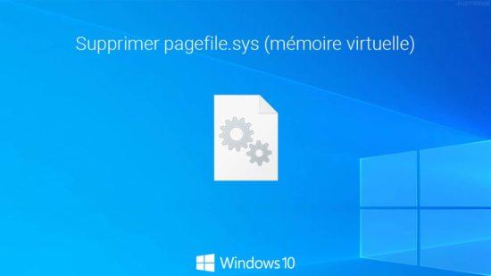 Effacer la mémoire virtuelle (pagefile.sys) à l'extinction du PC