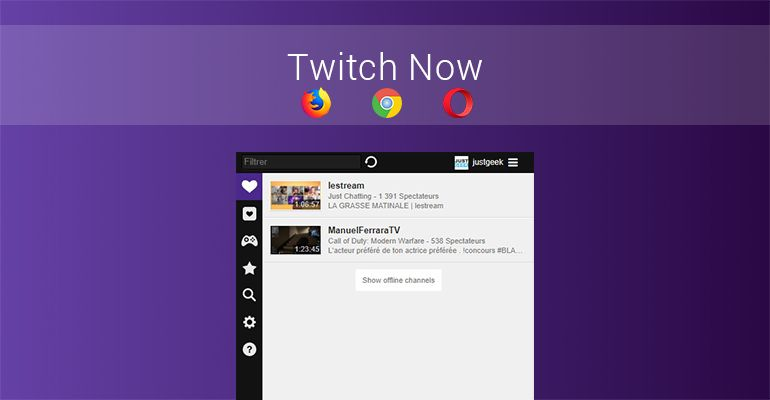 Twitch Now Extension