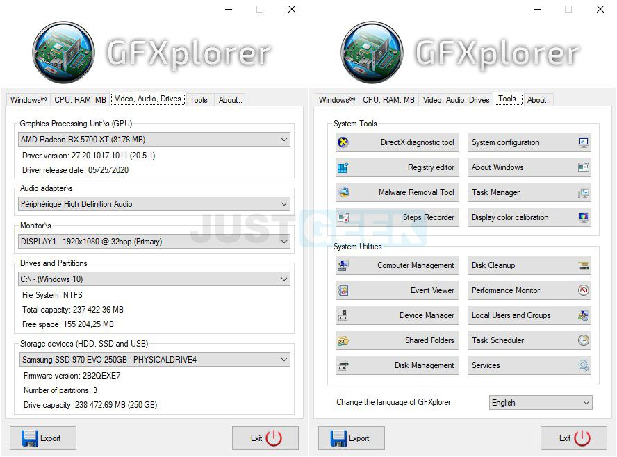 GFXplorer : Tout savoir sur son PC