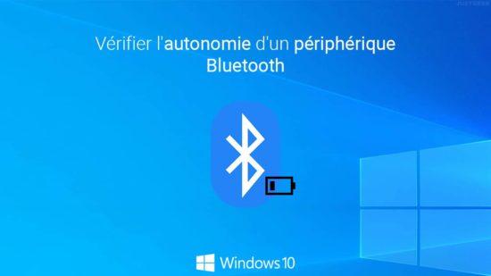 Vérifier le niveau de batterie d'un périphérique Bluetooth dans Windows 10