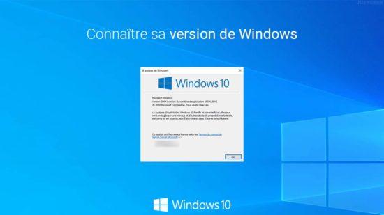 Connaître la version de Windows