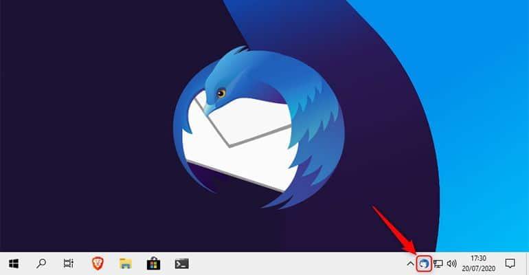 Réduire Mozilla Thunderbird dans la zone de notification