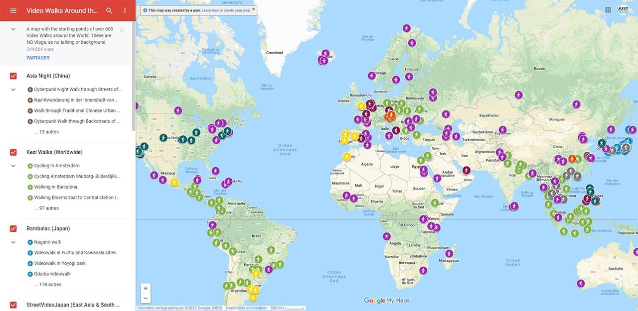 Visitez les villes du monde entier avec cette carte interactive