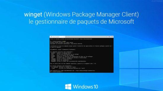 winget : installer et utiliser le gestionnaire de paquets de Microsoft