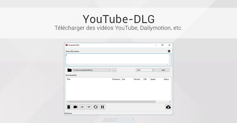YouTube-DLG : Télécharger des vidéos YouTube, Dailymotion, etc.
