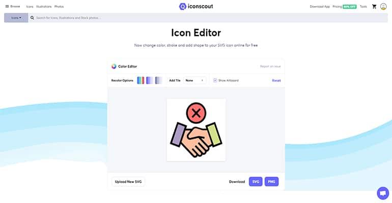 Color Editor : Éditeur d'icônes en ligne gratuit