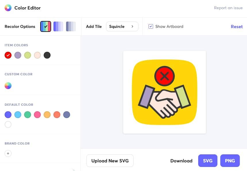 Éditeur d'icônes en ligne gratuit Iconscout