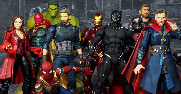 Figurines Marvel super-héros