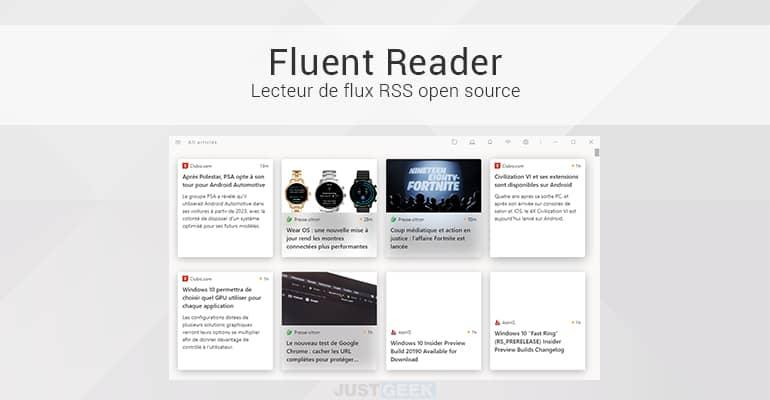 Fluent Reader : Lecteur de flux RSS open source