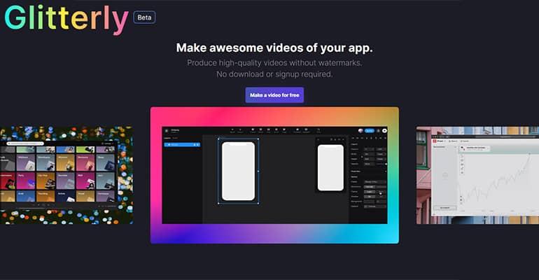 Glitterly : Montage vidéo en ligne gratuit