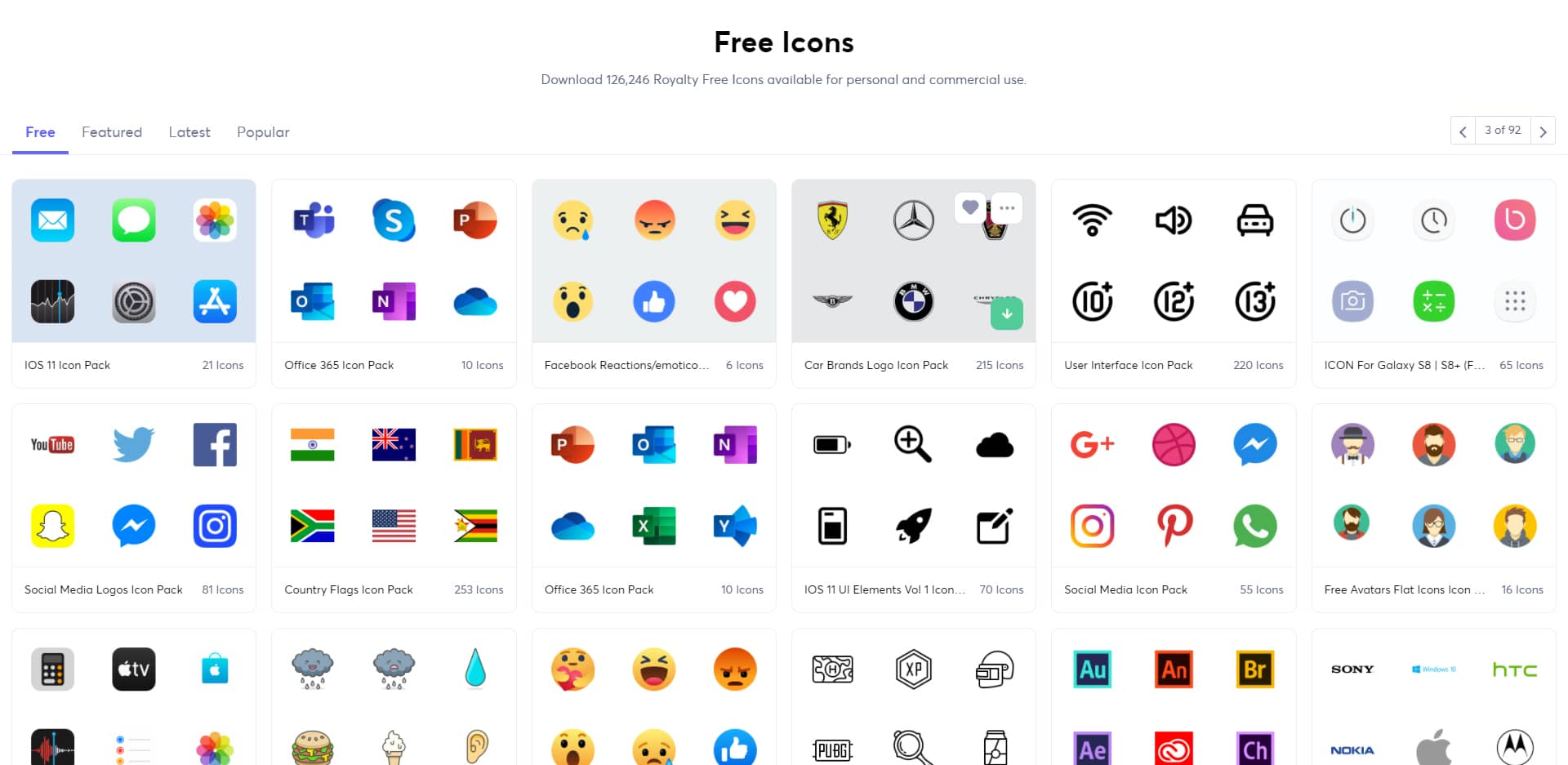 Icônes gratuits