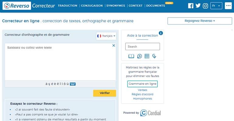 Correcteur en ligne : correction de textes, orthographe et grammaire