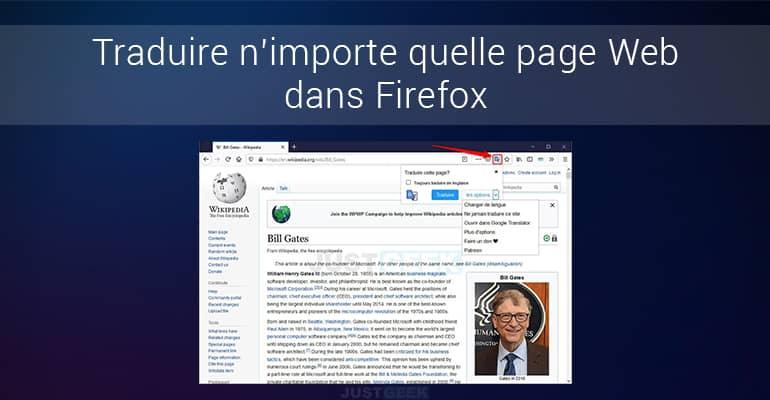 Traduire page web Firefox
