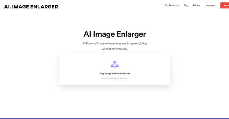 Agrandir une photo sans perte de qualité avec AI Image Enlarger