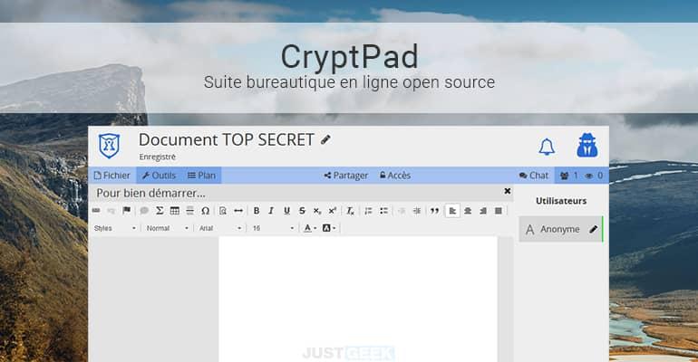 CryptPad : Une suite bureautique open source et respectueuse de la vie privée