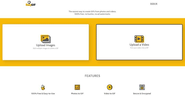 EasyGIF : Créateur GIF animé en ligne