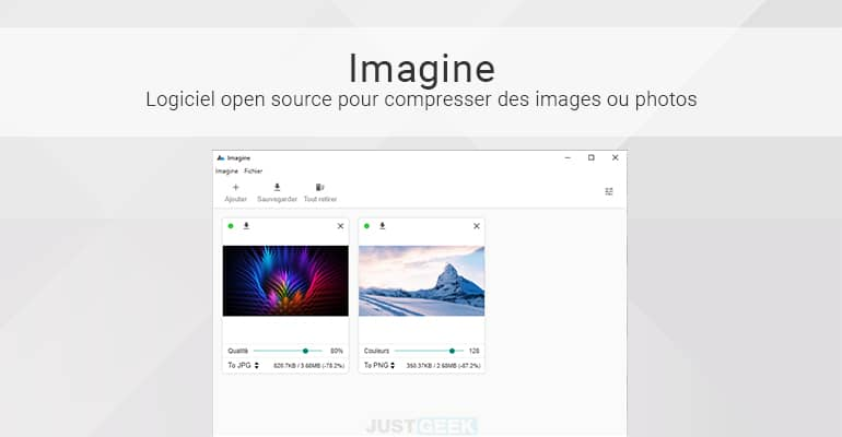 Imagine : logiciel gratuit pour compresser des images