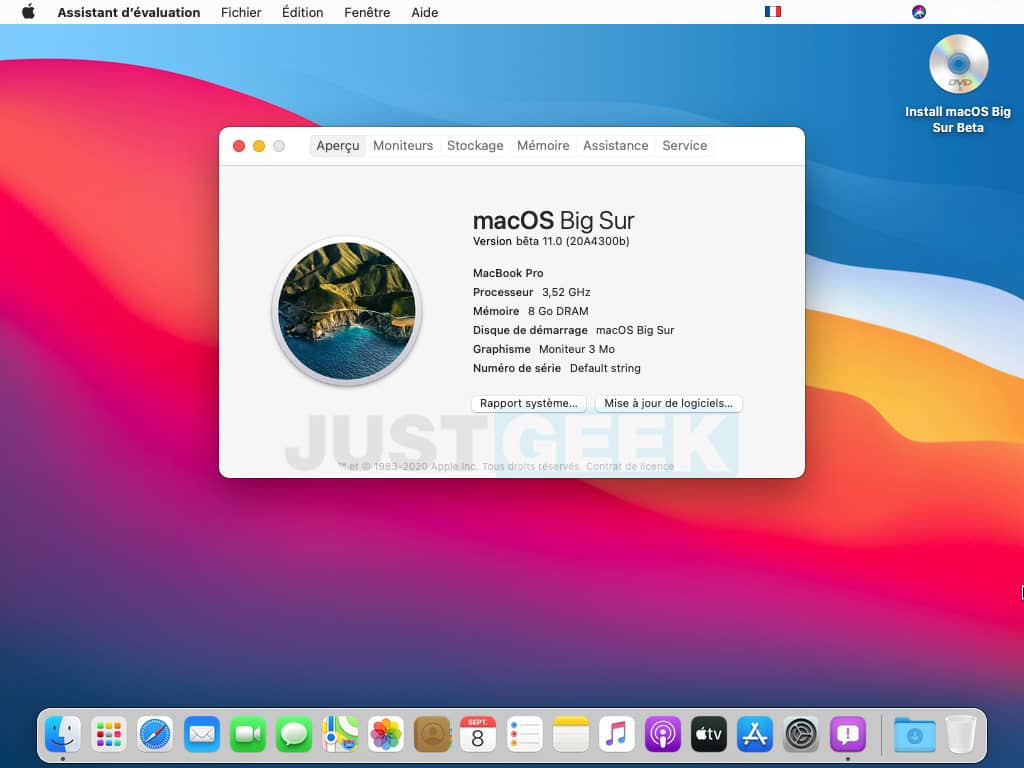 Interface macOS Big Sur