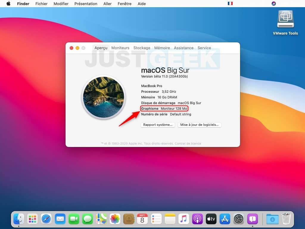 macOS Big Sur dans une machine virtuelle