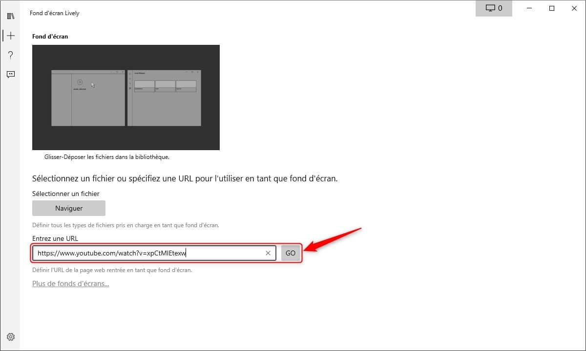 Ajouter une vidéo YouTube comme fond d'écran animé
