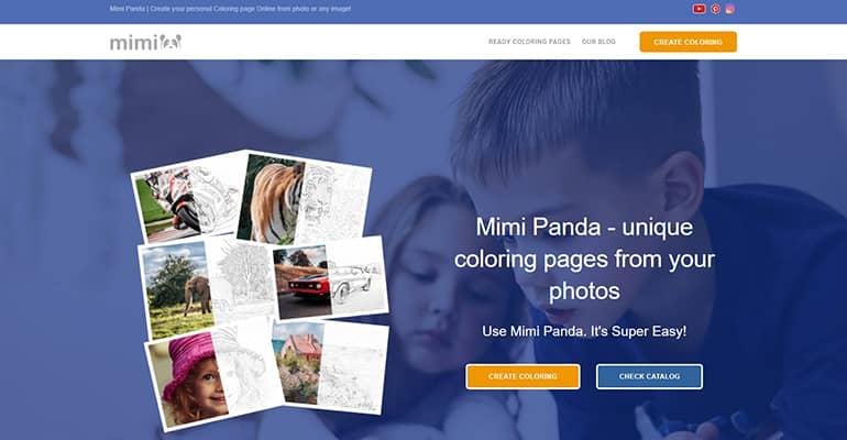 Convertir une photo en dessin à colorier avec Mimi Panda