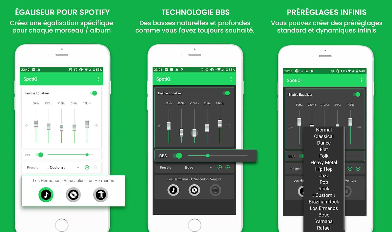 SpotiQ : Égaliseur pour Spotify