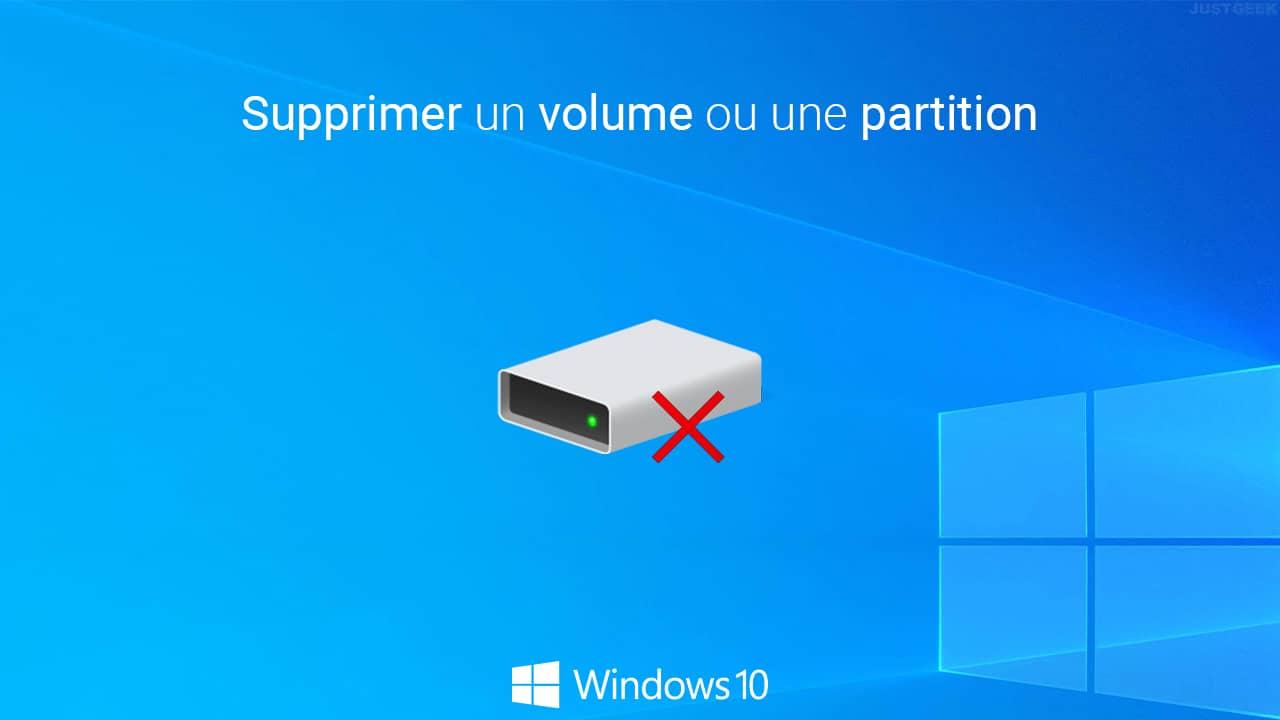 Supprimer un volume ou une partition dans Windows 10