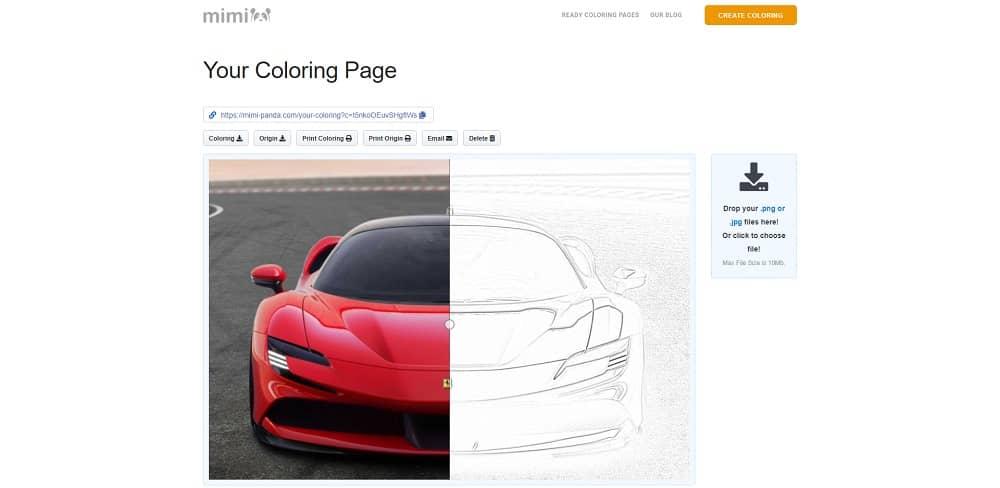 Transformer une photo en image à colorier avec Mimi Panda
