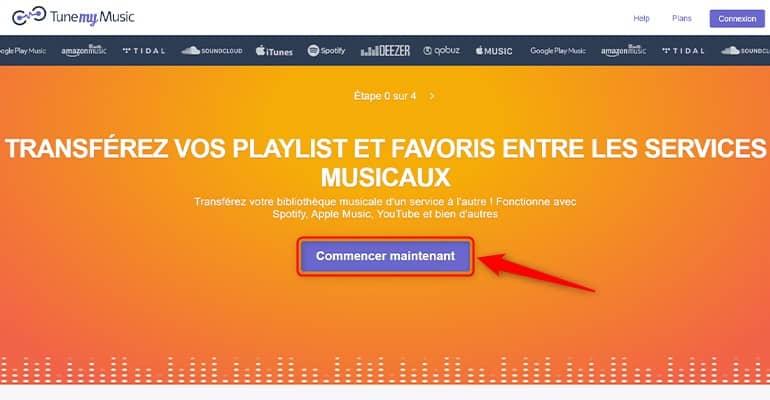 Transférez vos playlists et favoris entre les services musicaux