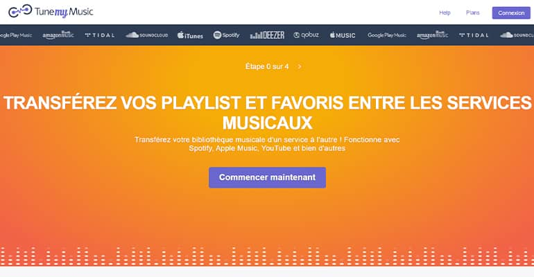 Transférer ses playlists avec Tune My Music